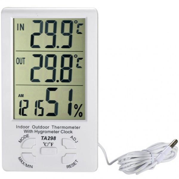 ТА298 Цифровой Термометр - Гигрометр дом-улица с ручным управлением