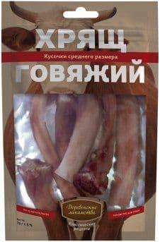 """Лакомство """"Деревенские лакомства"""" хрящ говяжий, средний - 75 г"""