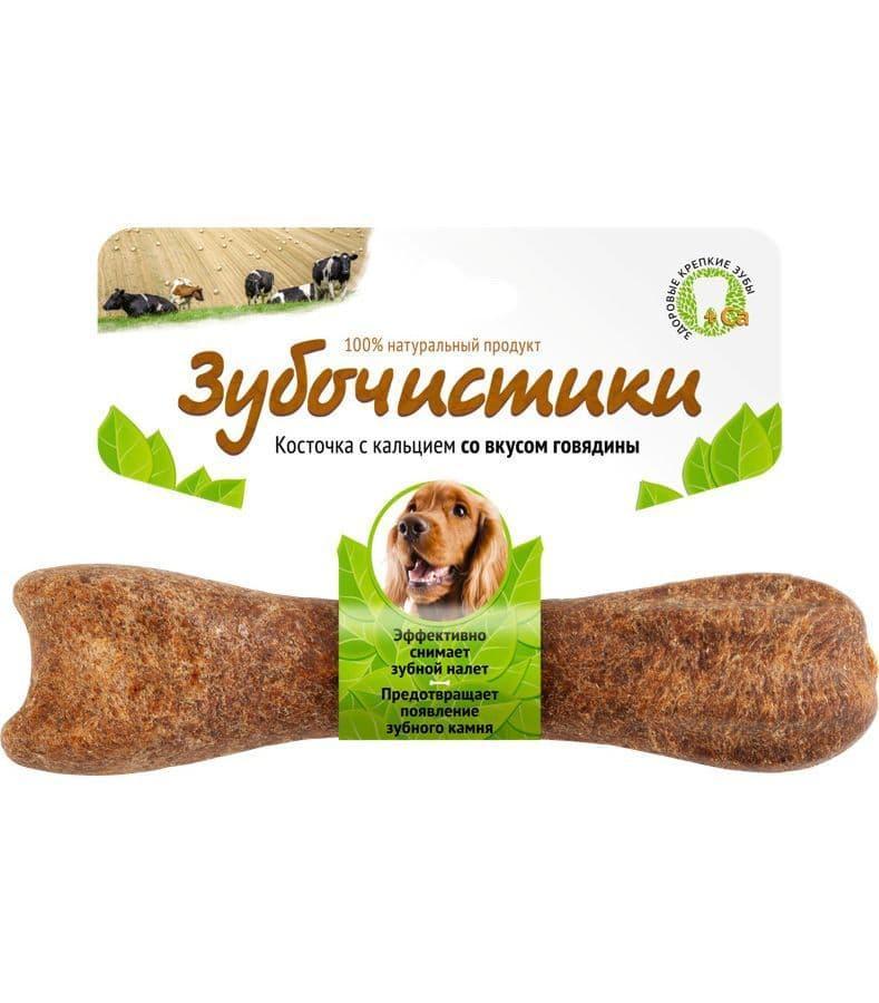 """Лакомство """"Деревенские лакомства"""" Зубочистики для собак средних пород, со вкусом говядины - 95гр"""