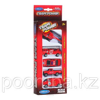 Игровой набор детских машинок Welly Пожарная техника
