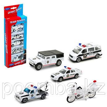 Игровой набор детских машинок Welly Полицейские машинки