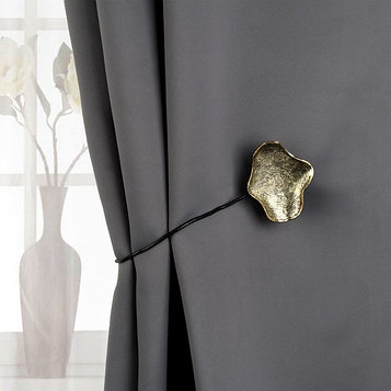 Подхват для штор «Клякса», цвет чернёное золото