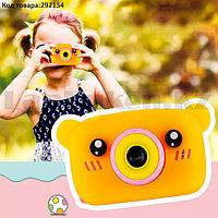 Детский цифровой фотоаппарат фото и видеосъемка чехол встроенные игры 600 mAh оранжевый (X3)