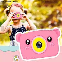 Детский цифровой фотоаппарат фото и видеосъемка чехол встроенные игры 600 mAh розовый (X3)