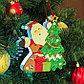 """Декор с подсветкой """"Дед мороз и ёлка"""" 2,3×14×16 см, фото 2"""