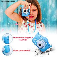Детский цифровой фотоаппарат фото и видеосъемка селфи-камера чехол встроенные игры 600 mAh Кошечка (X3)