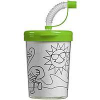 Детский стакан-раскраска «Передвижник», зеленый