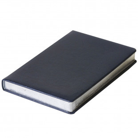 Датированный ежедневник SILVANO, A4 Синий с серебряным срезом