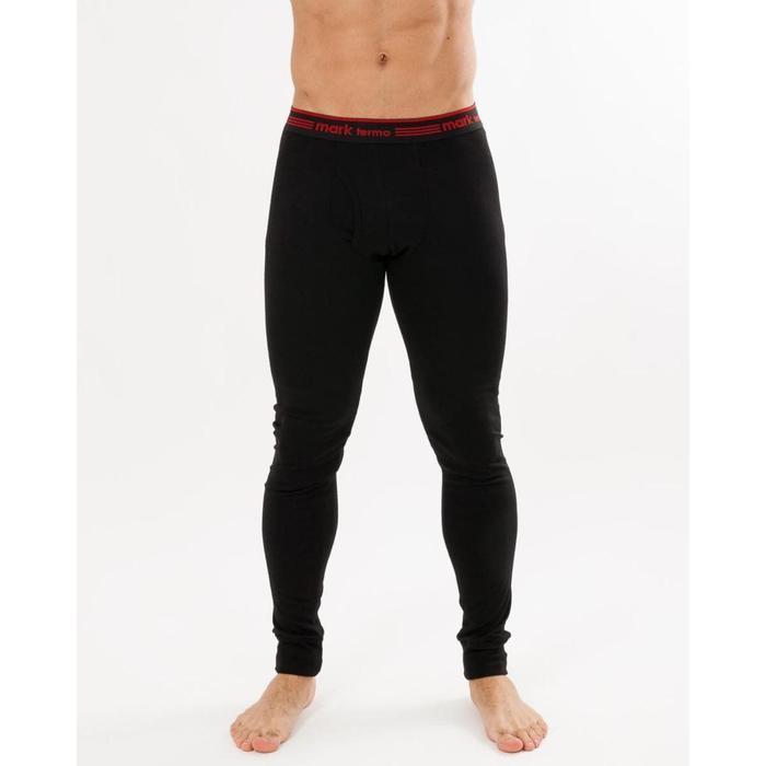 Кальсоны мужские (термо) цвет чёрный, размер 50, рост 176