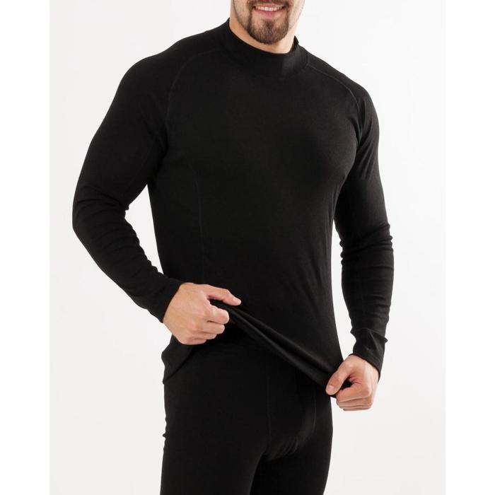 Лонгслив мужская (термо) цвет чёрный, размер 46, рост 176