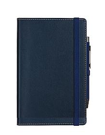 Записная книга А5, натуральная кожа ARWEY BUSINESS Синий