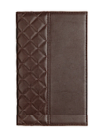 Ежедневник недатированный А5+, с золотым срезом, натуральная кожа CAPITONE Коричневый
