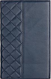 Ежедневник недатированный А5+, с золотым срезом, натуральная кожа CAPITONE Синий