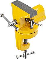 Тиски слесарные настольные с поворотным механизмом, 70 мм, STAYER, 3247-70_z01