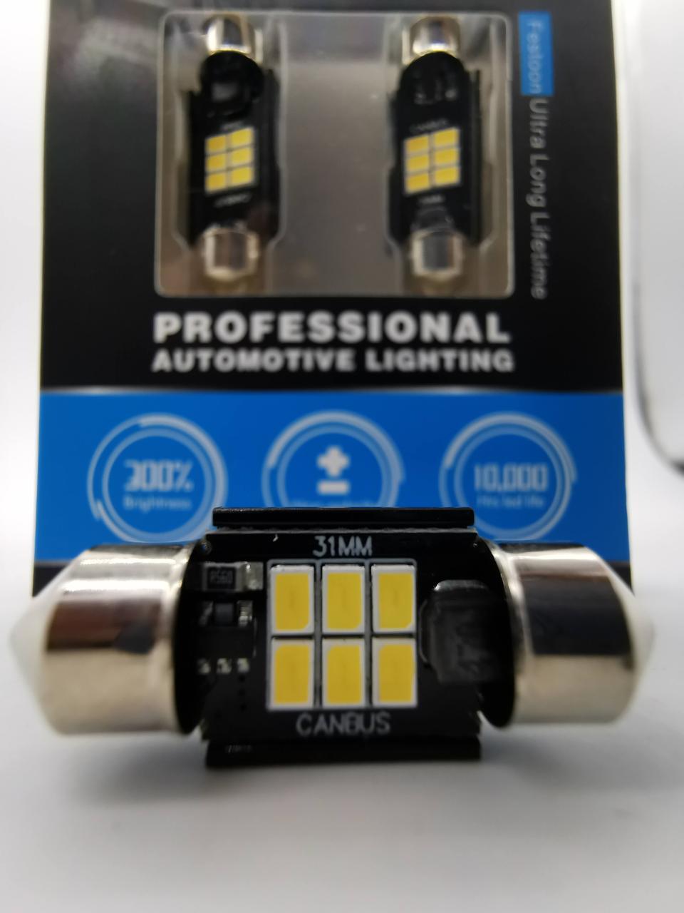 Светодиодные лампы с обманкой K6  C5W C10W 31-36-39mm