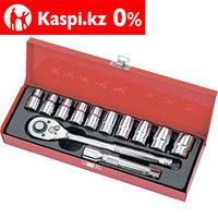 Набор торцевых головок, 1/2, головки 10-24 мм, с трещоточным ключом, 12 предметов Matrix Master, фото 1