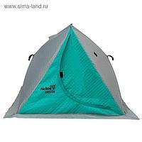 Палатка зимняя двускатная Helios DELTA комфорт, цвет biruza/gray