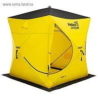 Палатка зимняя «ТОНАР» Helios EXTREME V2.0 куб (широкий вход), 1,8 × 1,8 м, цвет жёлтый/чёрный