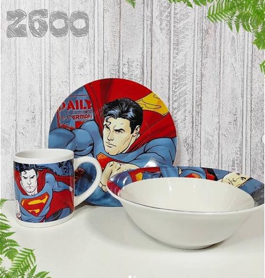 "Яркий, красивый набор посуды ""Супер Мэн""!"