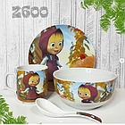 """Набор посуды """"Маша и Медведь"""", фото 2"""