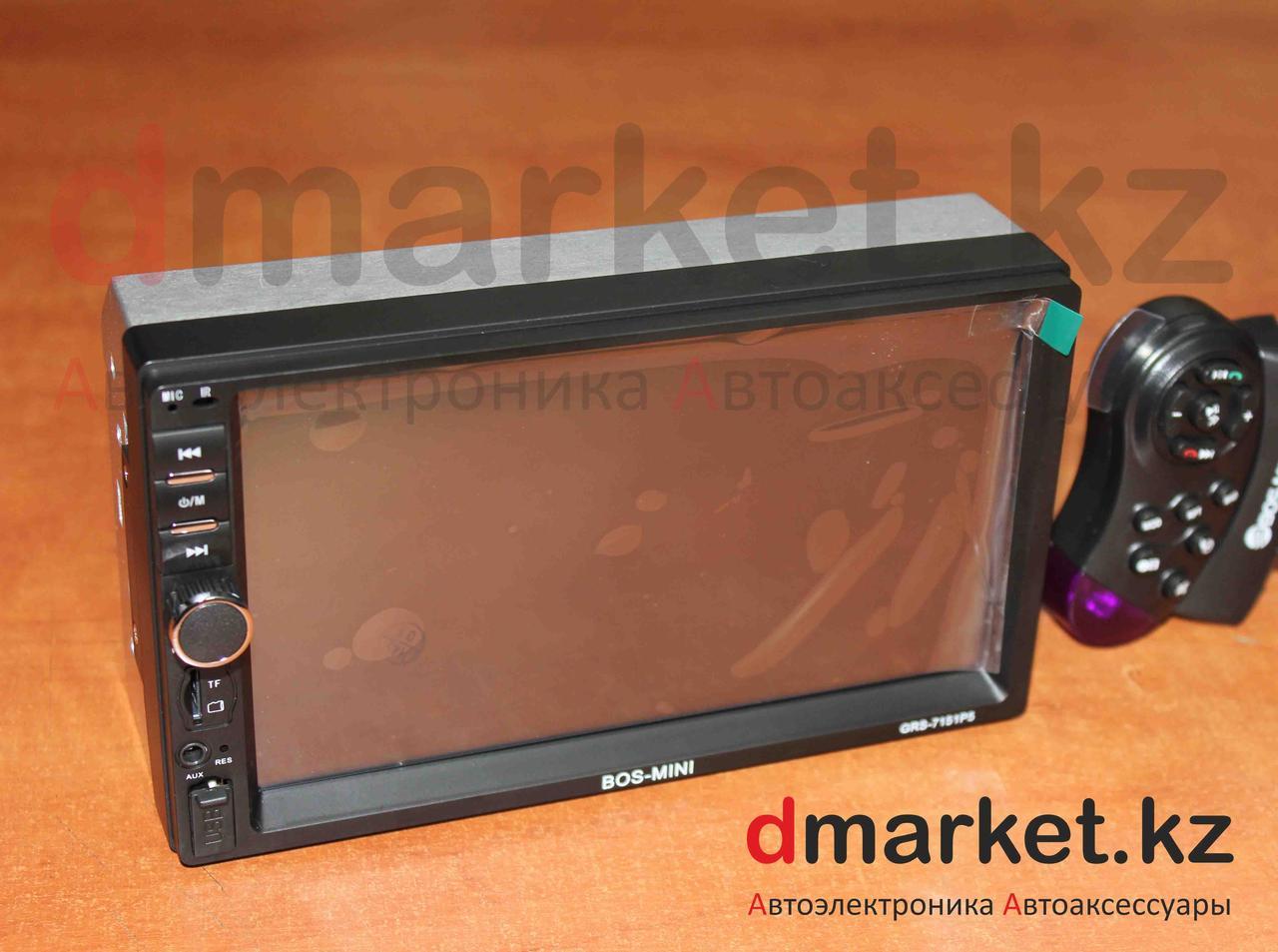 Автомагнитола Bos-Mini GRS-7151, 2DIN, USB, AUX, MP3, Bluetooth, камера в подарок