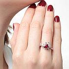 Кольцо из серебра с натуральным рубином, фото 2