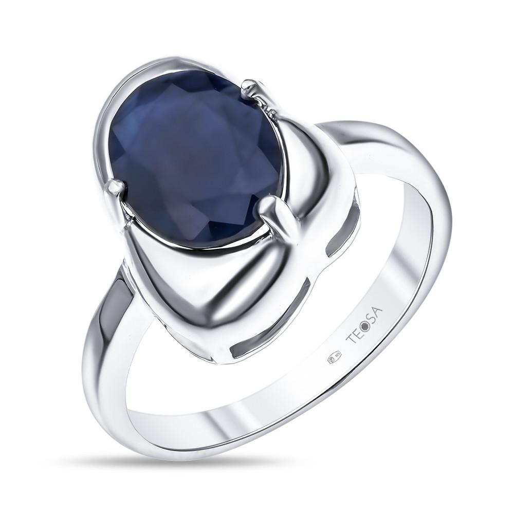 Кольцо из серебра с натуральным сапфиром