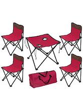 Комплект мебели для пикника ECOS TD-10 т.вишневый, стол+4стула