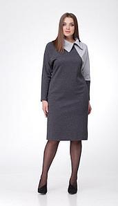 Платье Mali-452/1, серый, 50