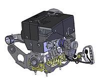 Двигатель РМЗ-500 1-но карб, с подмоторн.основанием C40500500-19ЗЧ