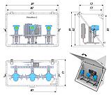 РизурБокс-С (RizurBox-C) Термошкафы стеклопластиковые диагонального раскрытия, фото 5