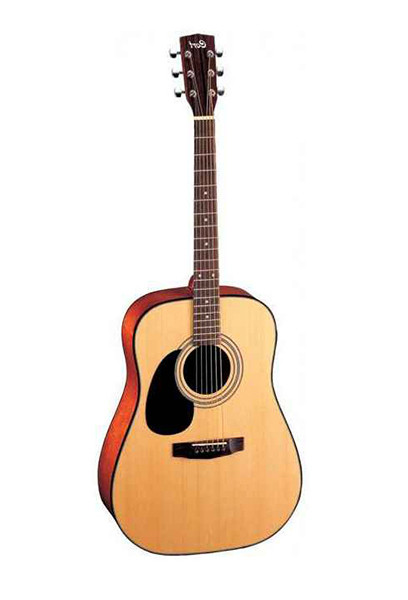 Акустическая гитара, леворукая, цвет натуральный, Cort AD810-LH-OP Standard Series