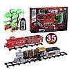 """Детская железная дорога на радиоуправлении со светои и дымом play smart """"мой поезд"""" 35 деталей"""