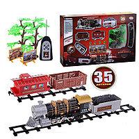 """Детская железная дорога на радиоуправлении со светои и дымом play smart """"мой поезд"""" 35 деталей, фото 1"""