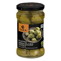 Зеленые оливки, фаршированные чесноком