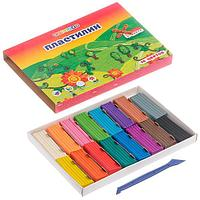 Пластилин ЗХК 16цв. 320гр. Цветик классический +стек карт.уп. арт.32411399