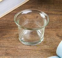 "Подсвечник стекло на 1 свечу ""Стаканчик"" прозрачный 4,5х6х6 см, фото 1"