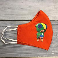 Детские защитные многоразовые маски с принтами