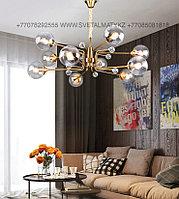 Люстра на 10 ламп в цвете Медь, фото 1