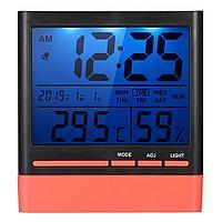 Метеостанция CX-318S (время / дата / температура / влажность / подсветка).Черно-красный