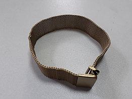 Магнитный металлический золотистый браслет на наручные часы
