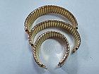 Металлический золотистый браслет-резинка на наручные часы, фото 3
