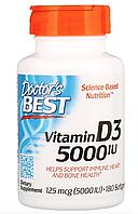 Витамин D3, 125 мкг (5000 МЕ), 180 мягких желатиновых капсул от Doctor's Best