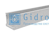 Лоток водоотводный бетонный коробчатый (СО-100мм) КU  100.14 (10).12,5(9) - BGU Гидролика