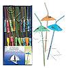 KOGLER Трубочка Зонтик d0,5x24см прозрачная разноцветная 50шт/уп Kg