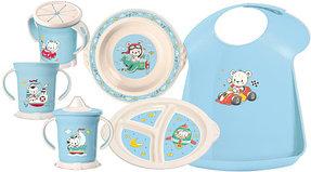 Посуда детская, нагрудники (пластик)