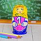 Матрёшка 5-ти кукольная «Арифметика», 11 см, фото 3