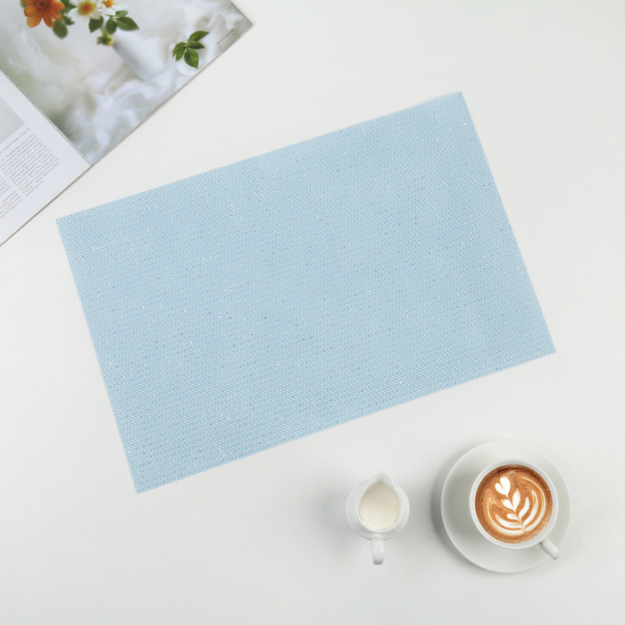 """Салфетка кухонная 45×30 см """"Блеск"""" , цвет голубой"""