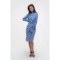 Платье женское MISTмиди на запахе, р-р 48-50, синий