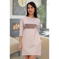 Платье женское 'Эдельвейс' цвет бежевый меланж, размер 52